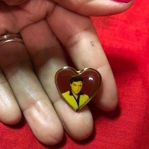 Elvis Presley heart ❤️ pin